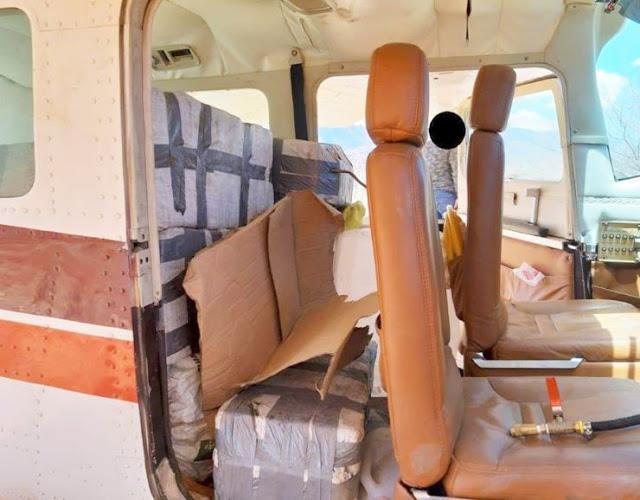 Cae avioneta en Tamazula, Durango con 280 kilos de Coca