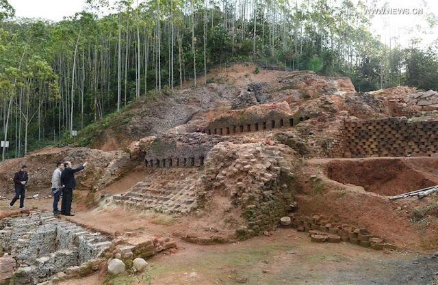 Relics of Dongxi kiln in Nanjing County of SE China's Fujian