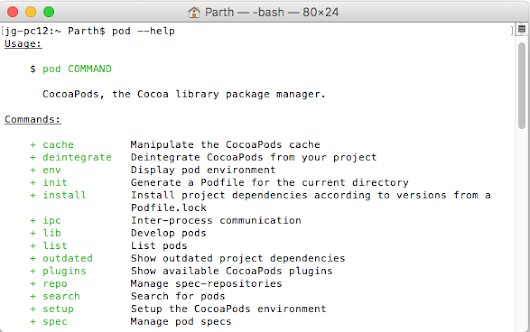 iOS: Use CocoaPods in your swift project - pod file installation