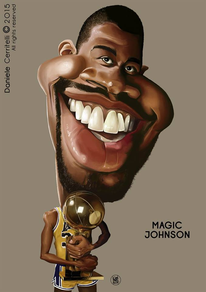 Magic Johnson por Daniele Cerritelli