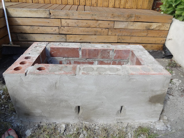 fire pit with ventilation holes