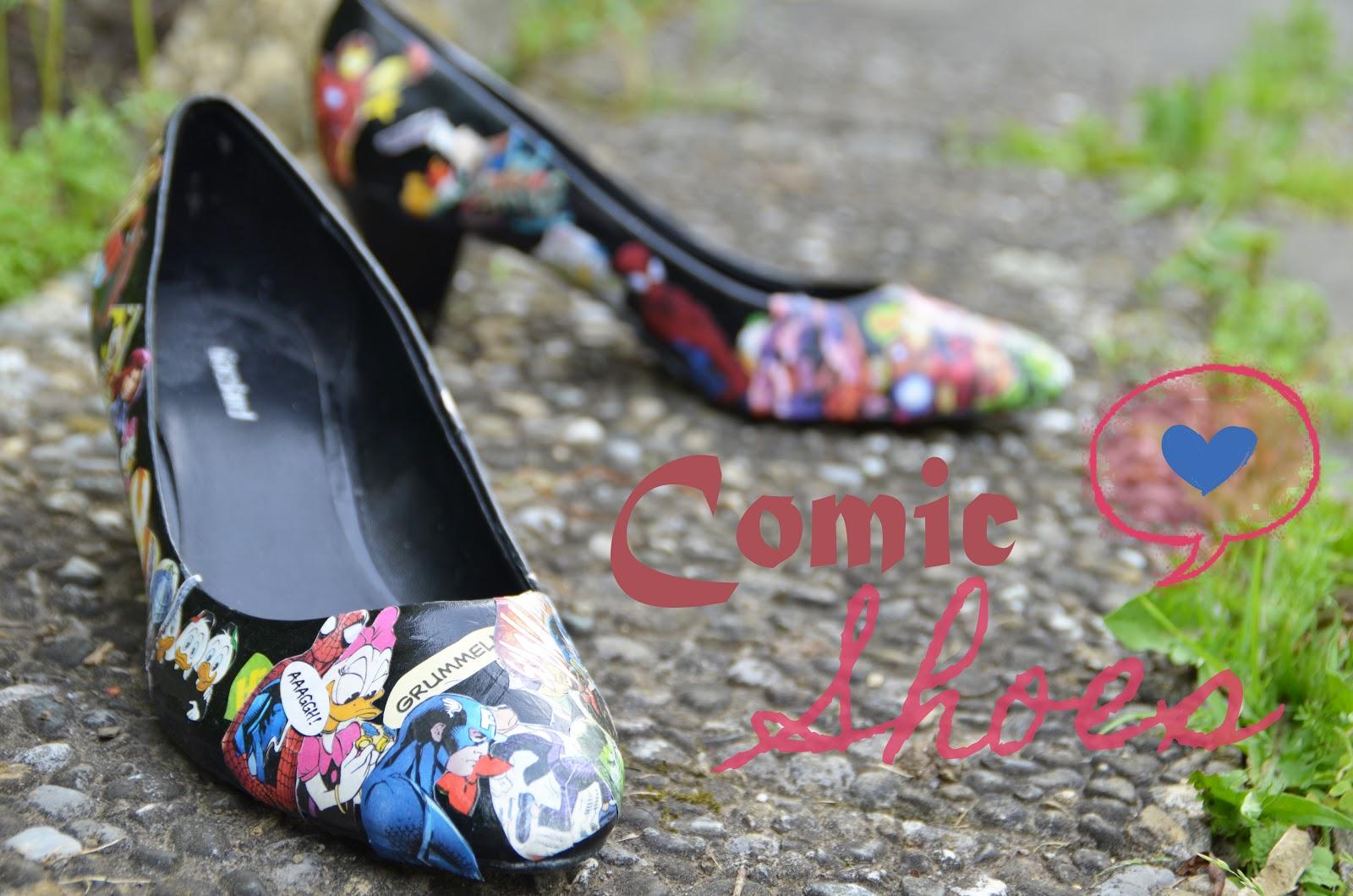 Diy Comic Shoes Bonny Und Kleid