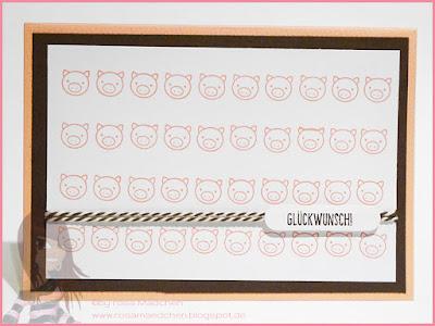 Stampin' Up! rosa Mädchen Kulmbach: Geburtstagskarte mit Schweinchen aus Ein Gruß für alle Fälle