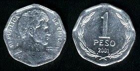 Chile  1 Peso 2006