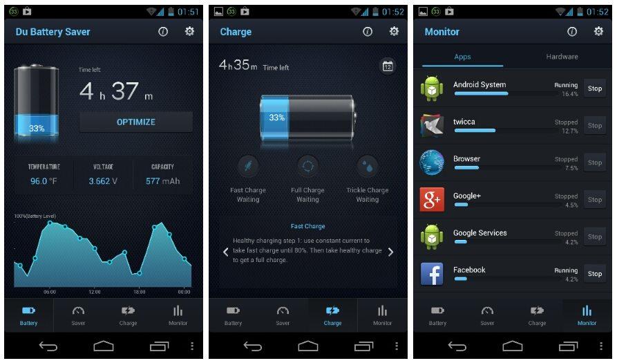 Aplikasi DU Battery - TAB VIEW