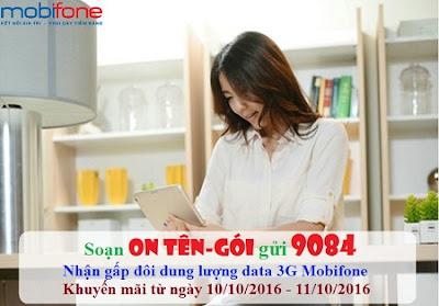 Khuyến mãi 3G Mobifone tháng 10
