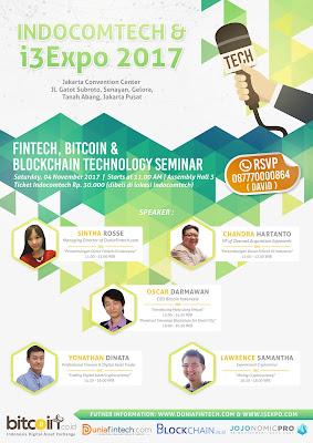 seminar fintech, bitcoin dan blockchain teknologi