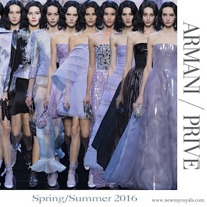 Princess Charlene wore Armani Prive Gown - Spring 2016 Haute Couture Collection