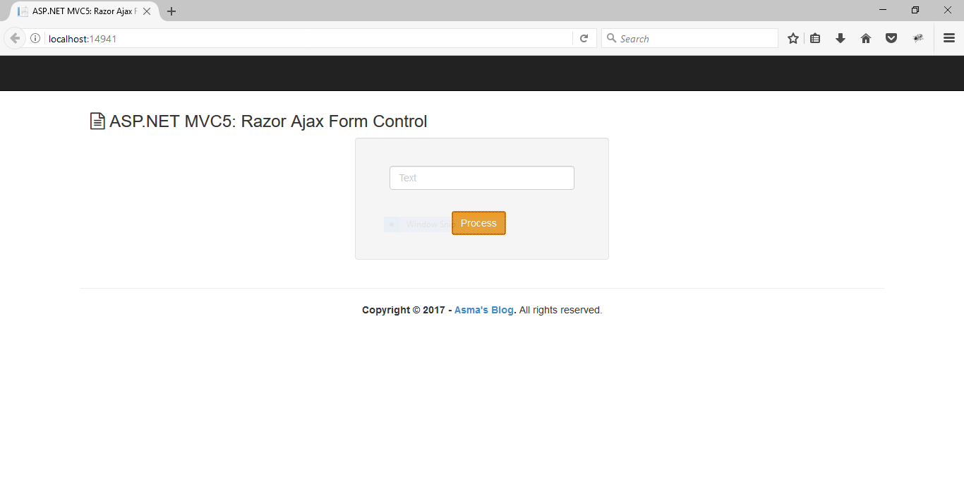 ASP NET MVC5: Razor Ajax Form Control - Asma's Blog