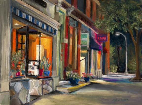 Fresh Side Of The Street, 9x12 inches, En Plein Air du Soir, Private Collection
