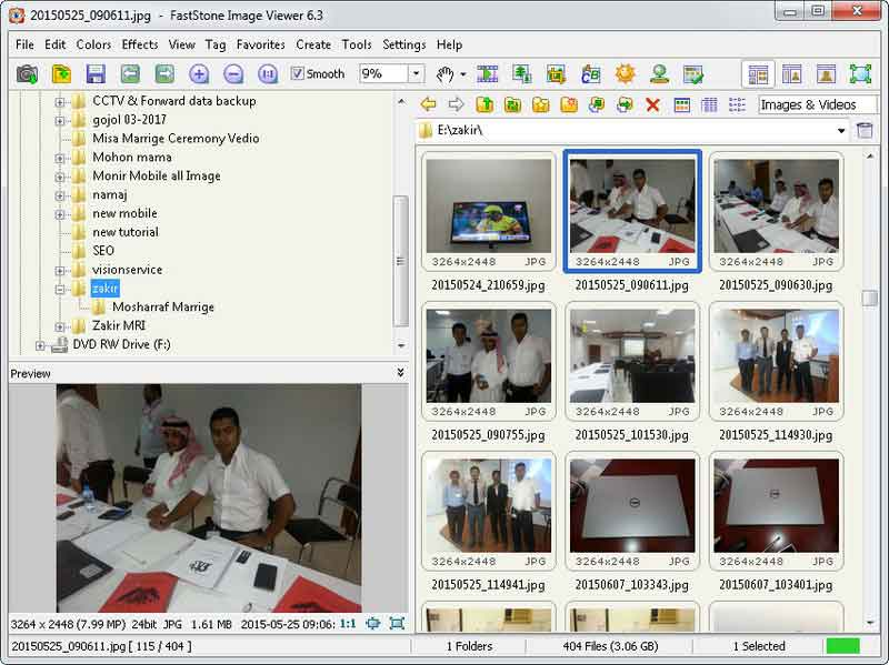 FastStone Image Viewer screen 1