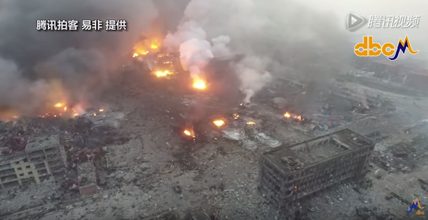 天津大爆炸,翻攝自YouTube