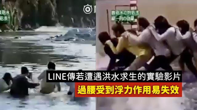 八掌溪 洪水 手牽手 日本 節目 實驗 影片