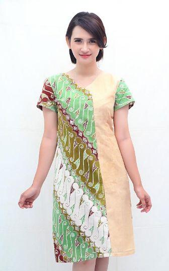 Baju Batik Kombinasi Kain Polos Terbaru Dan Termodis