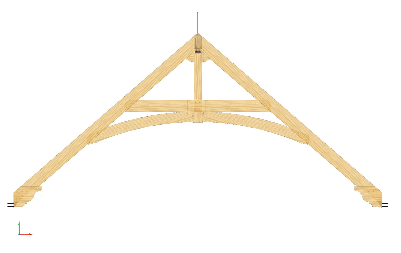 Timber Frame Design: Timber Trusses with Curved Beams