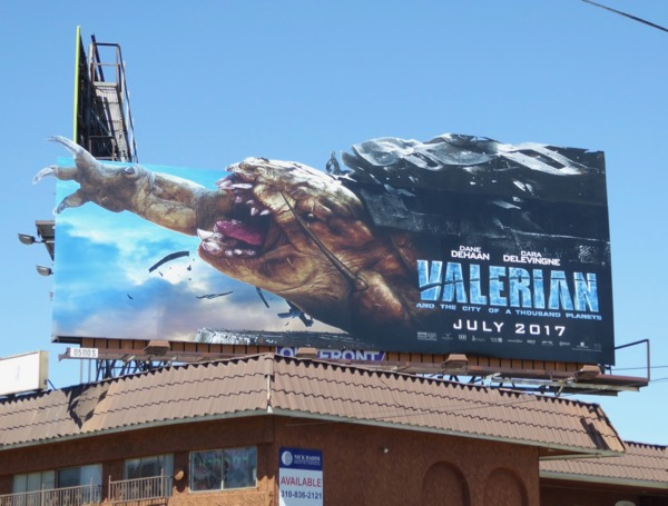 Valerian special extension cut-out billboard