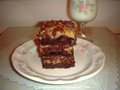 Margaret's Morsels | Peanut Butter Brownies