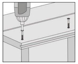 gambar pemasangan papan kayu komposit - 7