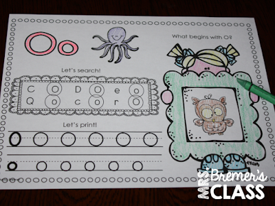 Alphabet Practice Pack for Kindergarten. Students will practice letter recognition, sounds, and letter printing. A teaching tool for introduction and assessment of learning. #kindergarten #literacy #alphabet #backtoschool