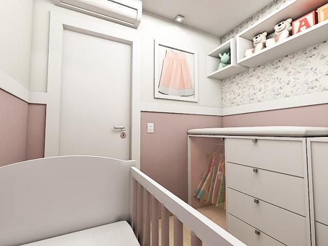 Kemily Onça  Studio de Arquitetura  Campo Grande  MS Quarto de Bebê  Des