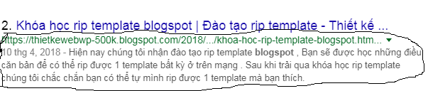 Tạo thẻ description cho từng bài viết blogspot