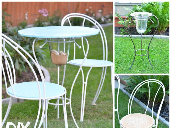 DIY Bistro Set {From Candle Holder to Table}