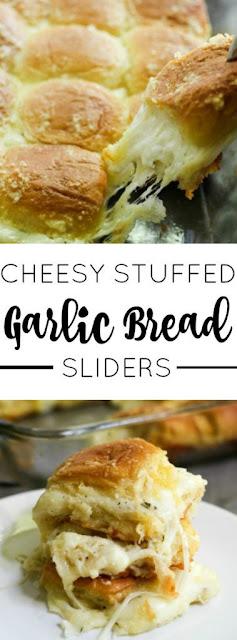Cheesy Stuffed Garlic Staff Of Life Sliders Recipe