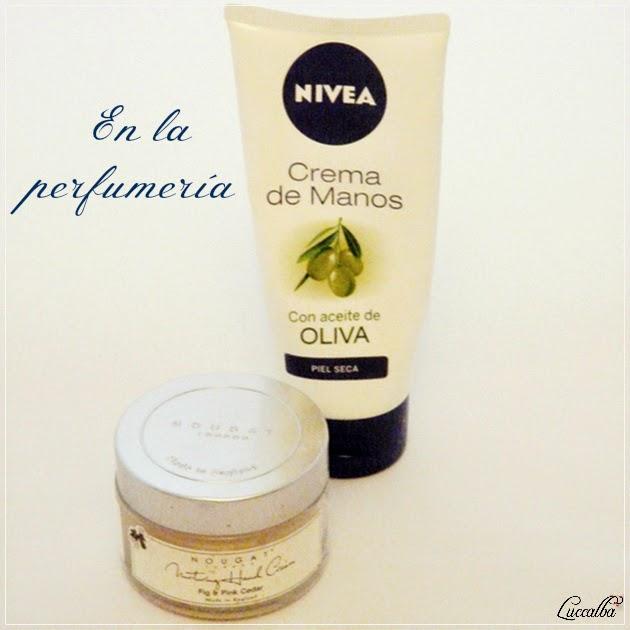 Crema de manos con aceite de oliva de Nivea y Crema de Manos Nougat London