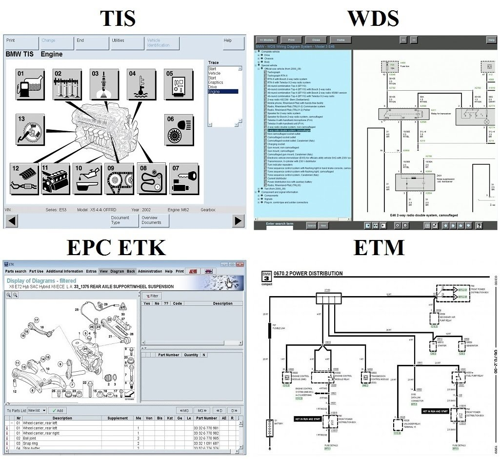 Bmw Workshop Service Repair Manuals Set Tis Wds Epc Etk Etm Wiring Diagram System Download