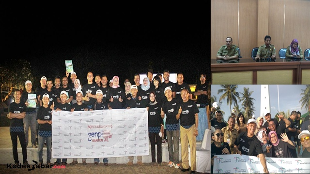 Launching GenPI Banten di Pantai Anyer