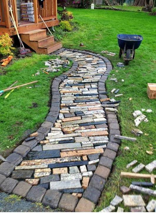 DIY Garden Paths and Landscape Design Ideas - Home Decor on Patio And Path Ideas  id=59937