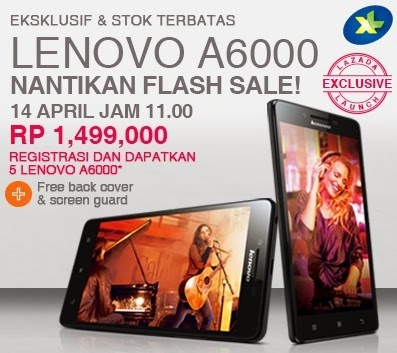 Lenovo A6000 Flash Sale 14 April 2015