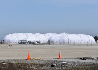 Inflatable hangar at Moffett Field, Mountain View, California