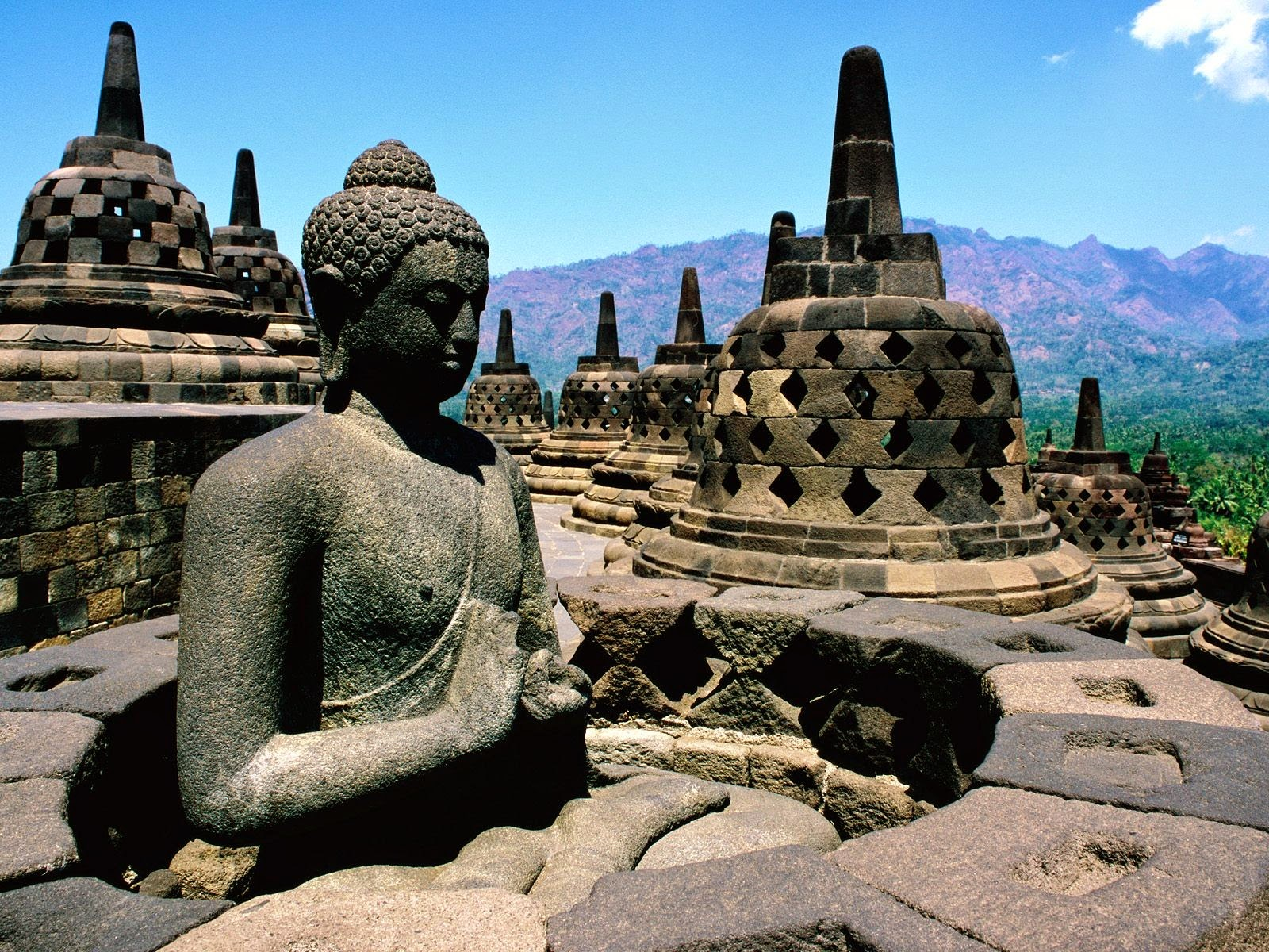 Ancient Buddha Temple Statue Photograph HD