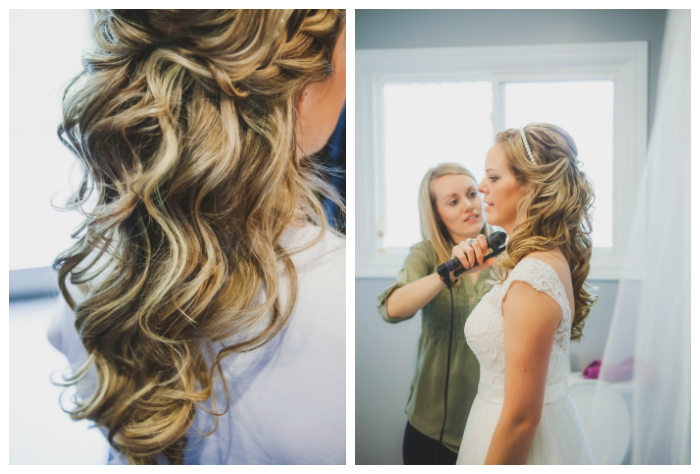 bridal hair with loose curls photography: Kate Pennings hair: Taming Rapunzel