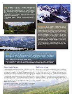Apoyo Primaria Atlas de Geografía del Mundo 5to. Grado Capítulo 2 Lección 4 Países Megadiversos, Patrimonio Natural