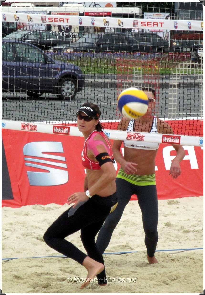 Beach volleyball - attention to the ball