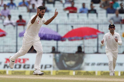 India's Pace man Bhuveneshwar Took 5 Wickets For 33