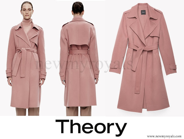 Princess Marie wore Theory Double Face Wool Cashmere Trench Coat