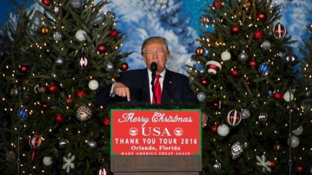 Trump attends Christmas Eve services