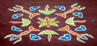 karthigai Deepam  kolam step 2