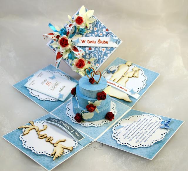 Co Bóg złączył, życzenia ślubne, AltairArt inspiracje, box z tekturką, na ślub, na zamówienie, kartka ślubna, jak przeazać pieniądze w prezencie ślubnym, życzenia na słodko, tort ślubny