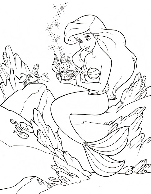 Best Little Mermaid Coloring Pages Sebastian Image - Free ...