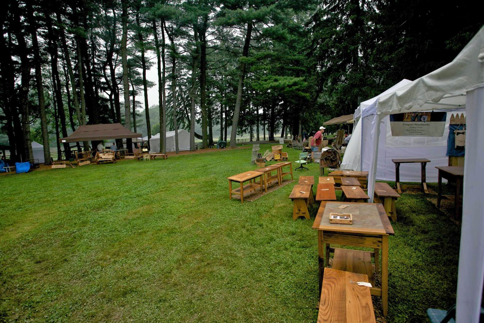 An Antique And Craft Sale In The Woods