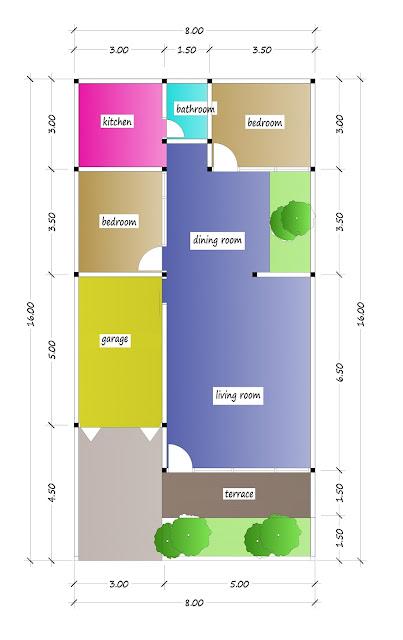 floor plan of beautiful house plan 27