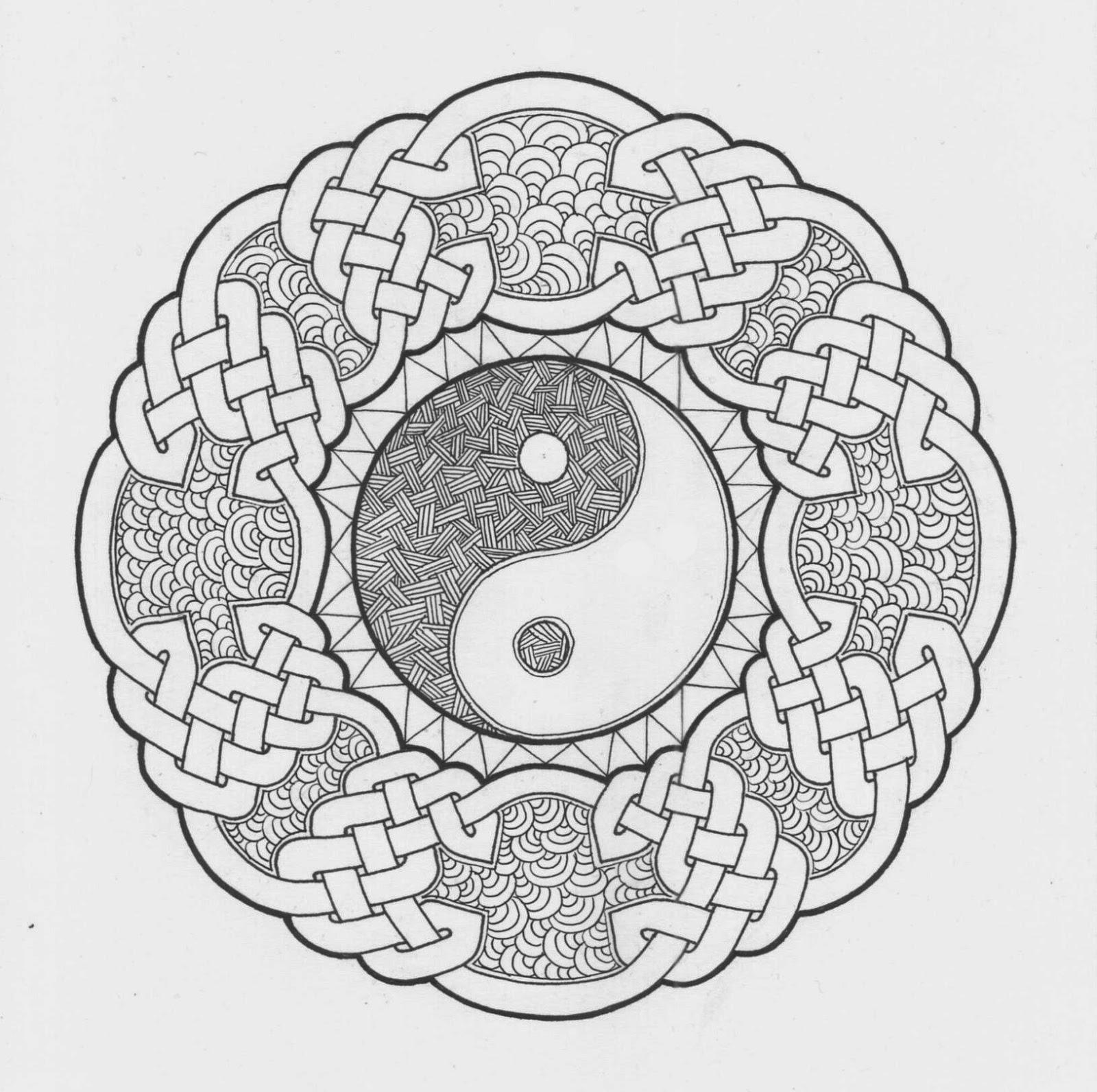 Volwassen Kleurplaat Boeddha Mandala Atelier April 2015