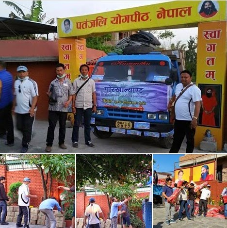GTA Darjeeling team Nepal relief materials quake victims