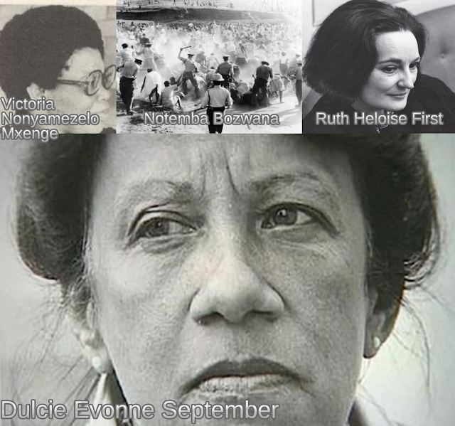 Women African Heroes Women Assassinated and Executed in South Africa 1963-1985