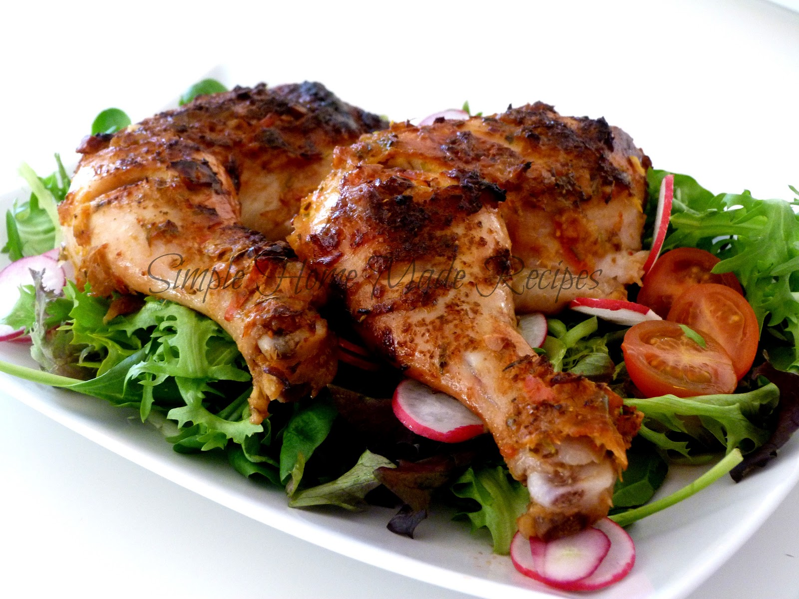 Simple Spicy Oven Baked Chicken Legs