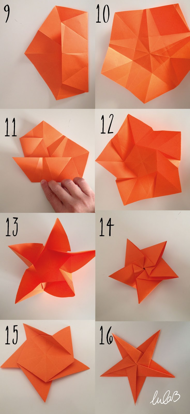 Diy 12 estrella de origami de 5 puntas dise o gr fico - Origami de una estrella ...